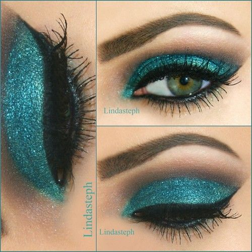 Shimmer Makeup Ideas: Peal Look