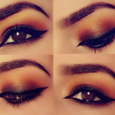 Shimmer Makeup Ideas: Sunset Makeup