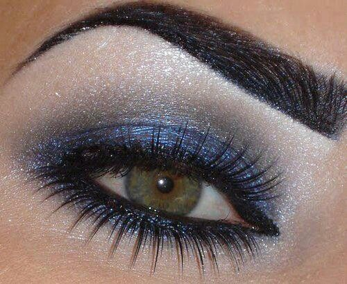 Shimmer Makeup Tutorials: Blue Smoky Eyes