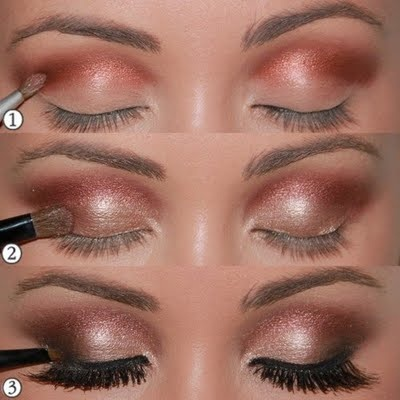 Shimmer Makeup Tutorials: Bronze Shadow