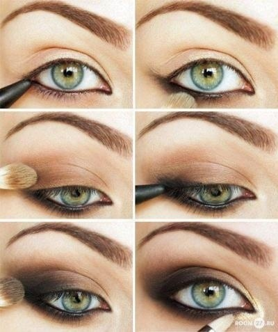 Shimmer Makeup Tutorials: Brown Smoky Eyes