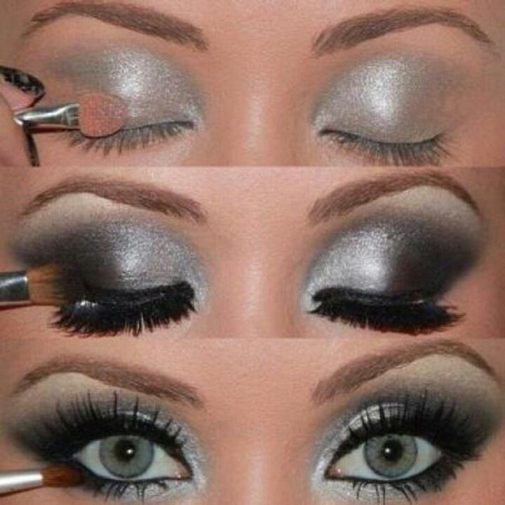 Shimmer Makeup Tutorials: Silver Smoky Eyes