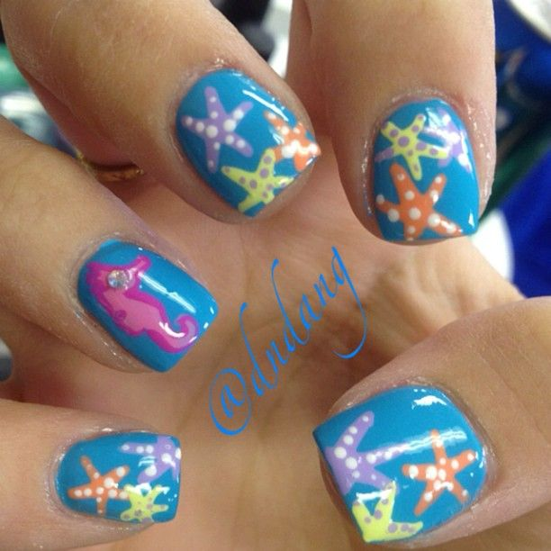 Starfish - 15 Ocean Nail Arts - Pretty Designs
