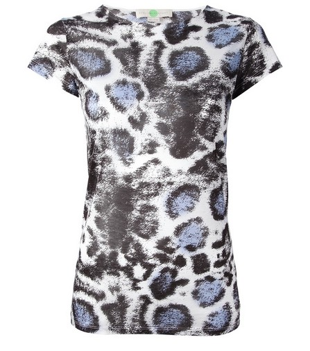 Stella Mccartney Leopard Print Short Sleeve Blouse for Weekend Outfit Idea