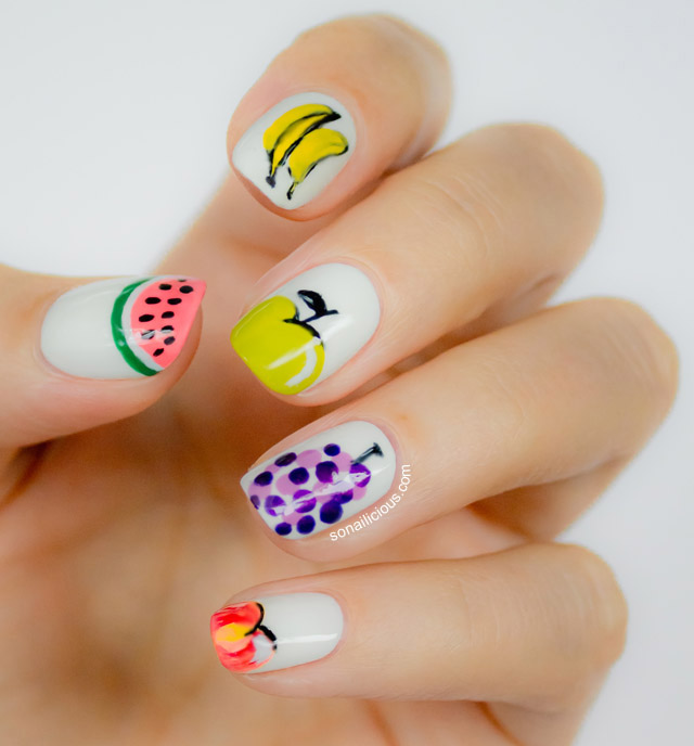 Stylish Fruit Nails