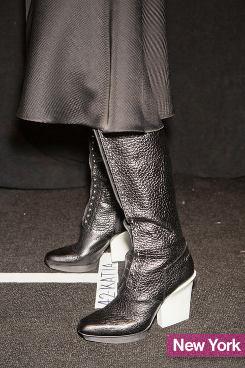 Stylish Shoe Trend from New York Fashion Week: 3.1 Phillip Lim's Black-and-White Boots