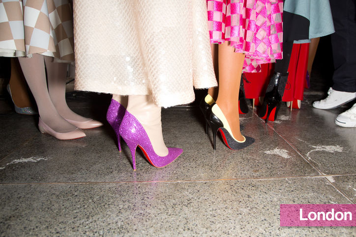 Stylish Shoe Trend from New York Fashion Week: Christian Louboutin for Jonathan Saunders' Glitter Pumps