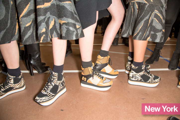 Stylish Shoe Trend from New York Fashion Week: DKNY's Platform Sneakers
