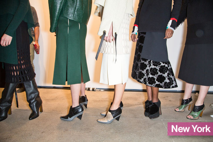 Stylish Shoe Trend from New York Fashion Week: Derek Lam's Cone-Heel Ankle Boots