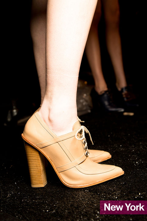Stylish Shoe Trend from New York Fashion Week: Lacoste's Pointy-Toe Lace-Up Oxfords