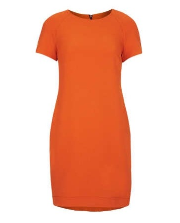 TopShop Form-fitting Dress in a persimmon shade of orange