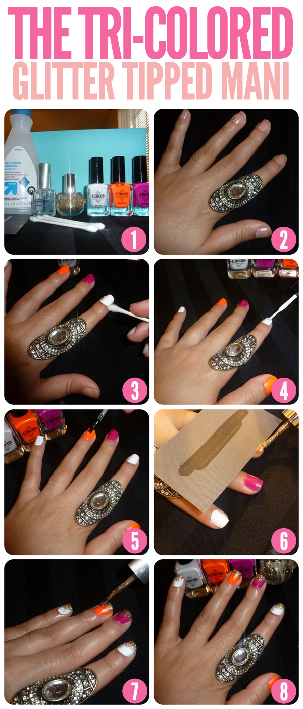 Nail Art Designs With Glitter Step By Step Papillon Day Spa