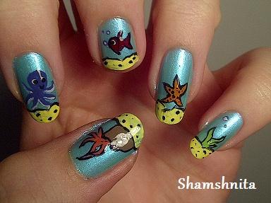 15 Ocean Nail Arts Pretty Designs
