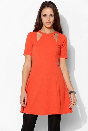 Urban Outfitters Cutout Dress in a persimmon shade of orange