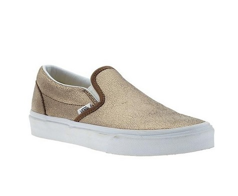 vans classic slip on gold