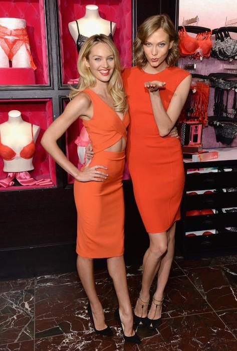 Victoria's Secret Models Show Us How to Rock the Color of the Season - Orange