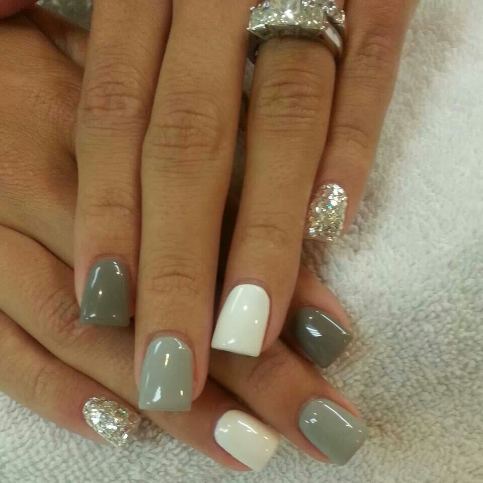 Nail Designs With White And Green : Gallery for gt white gray ombre nails