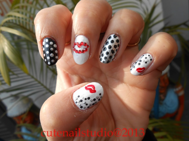 Modern Kisses Nail Art Image Component - Nail Paint Design Ideas ...