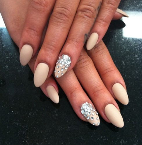 15 pointy nail ideas you must have pretty designs white pointy nails prinsesfo Choice Image