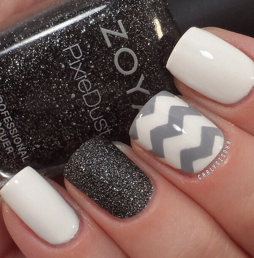 White and Grey Nails