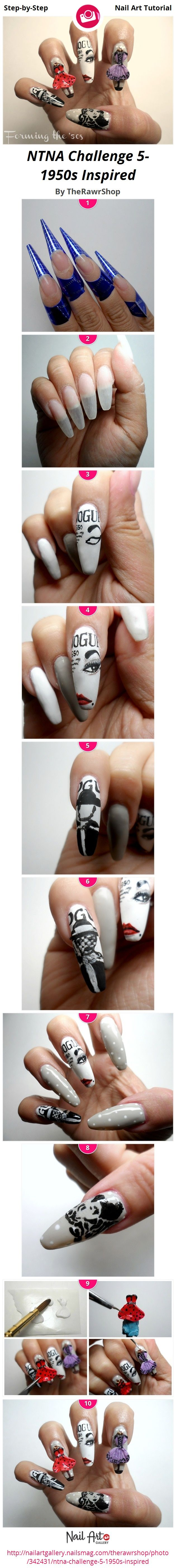 1950s Inspired Nails