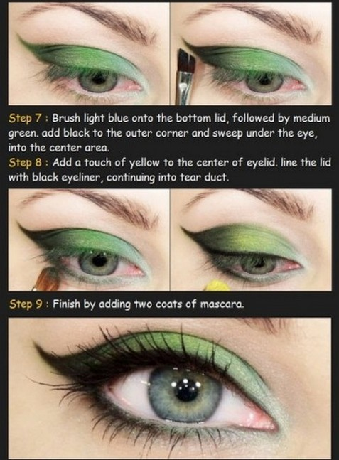 Light makeup for blue eyes