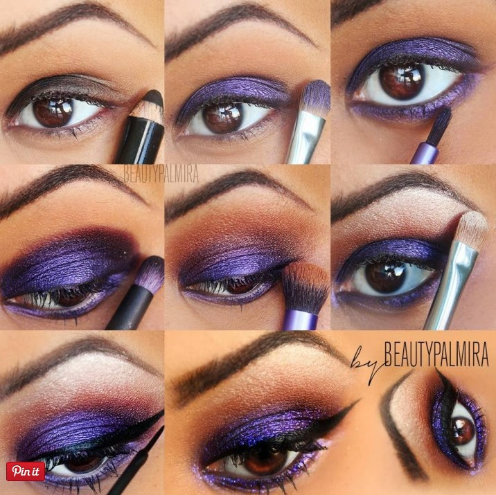 20 Mysterious Purple Smokey Makeup Tutorials