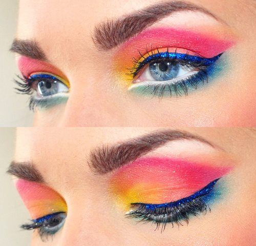 2014 Spring-Summer Makeup Trends: Colorful Cat Eyes