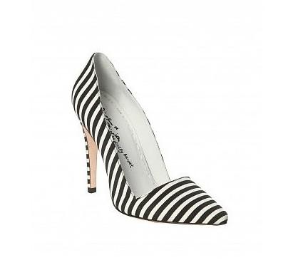 Alice + Olivia Dina Stripe Faille Heel ($295)