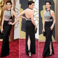 Anne Hathaway's Crystal-Embroidered Gucci Gown at the Academy Awards