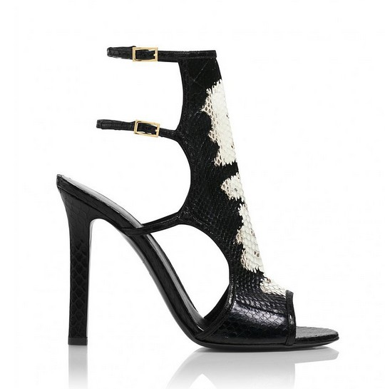 Bad Girl Handpainted Watersnake Heel ($995)