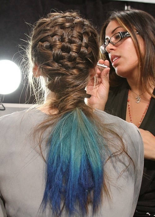 Basket Braid with Blue Ends