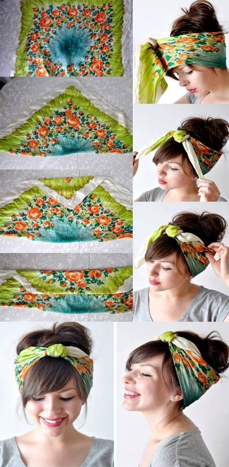 Remarkable 14 Tutorials For Bandana Hairstyles Pretty Designs Hairstyles For Men Maxibearus