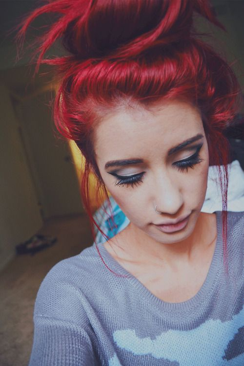 Best Hairstyles for Red Hair: Loose Hair Knot