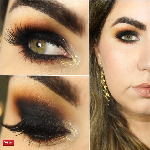 Black And Brown Glamorous Makeup