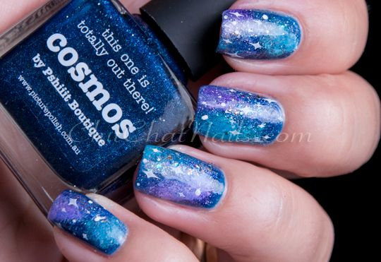 Blue Galaxy Nails