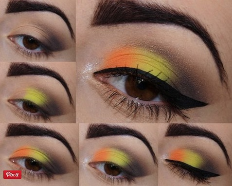 21 Colorful Makeup Tutorials For Women Pretty Designs