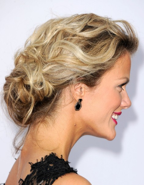 Brooklyn Decker Low Bun