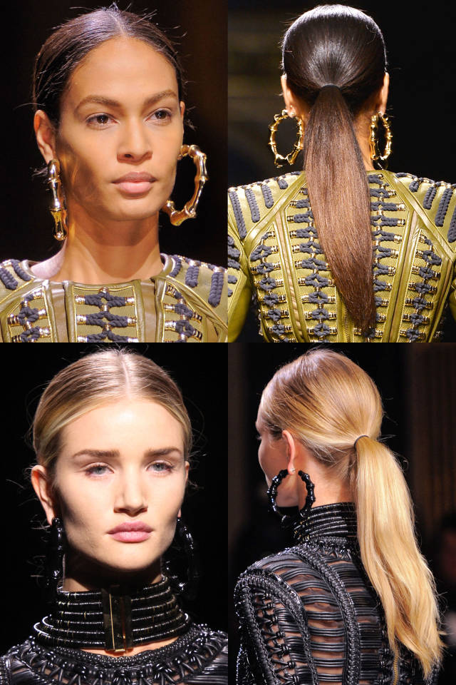 Hit the Trend with Ponytails: Center-parted Ponytail