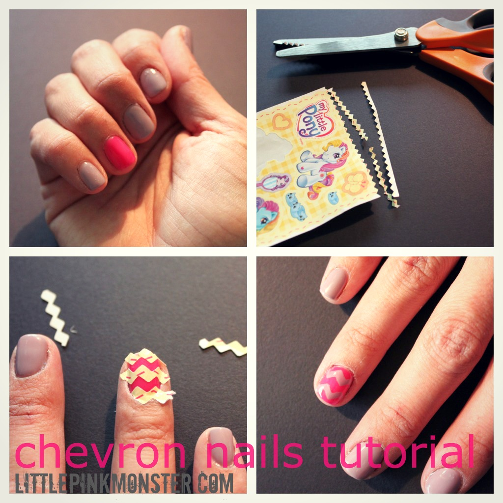 14 nail tutorials with tape tricks pretty designs chevron nails solutioingenieria Gallery