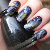 Colored Galaxy Nails