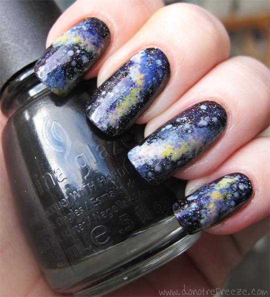 Colored Galaxy Nails