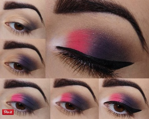 Colorful Makeup Tutorials - Oriental Pink
