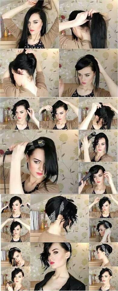 Remarkable 14 Tutorials For Bandana Hairstyles Pretty Designs Short Hairstyles Gunalazisus