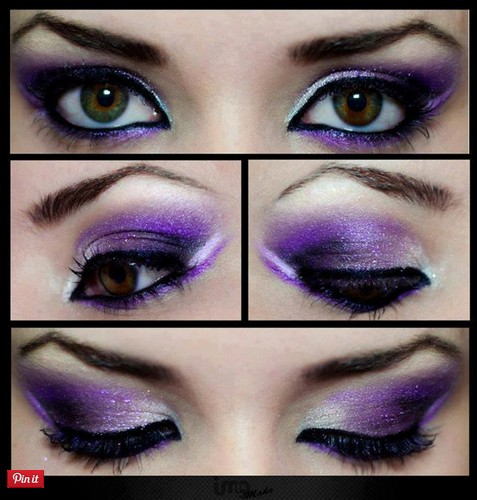 Cool purple eye makeup