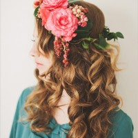Curls with Flowers
