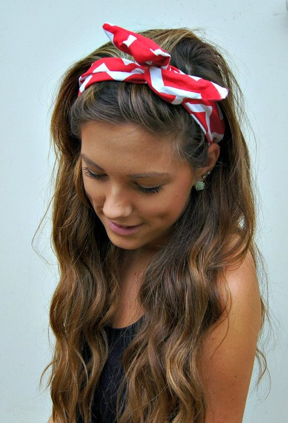 Curly Hair with a Bandana