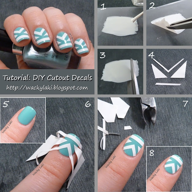 Cutout Decal Nails