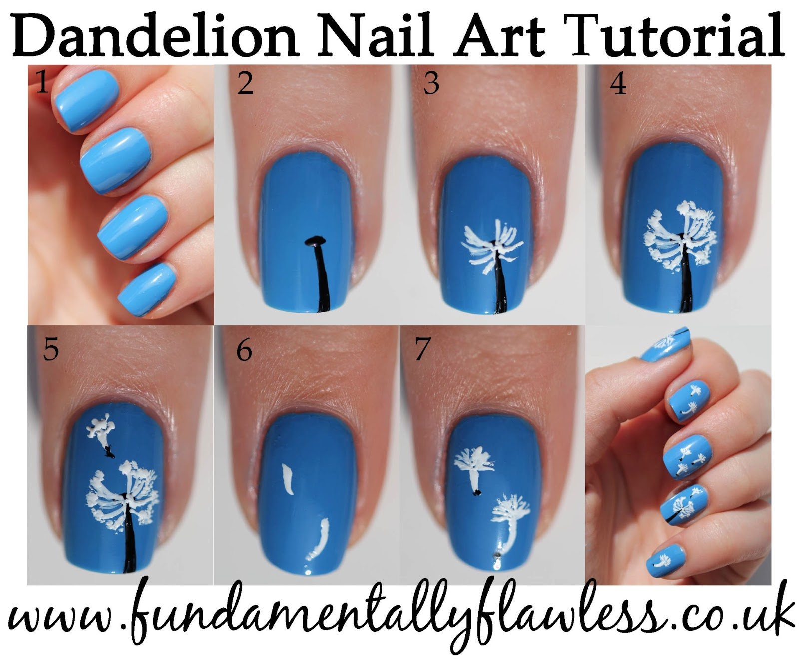 Nail Art Designs Step By Step Flowers - To Bend Light