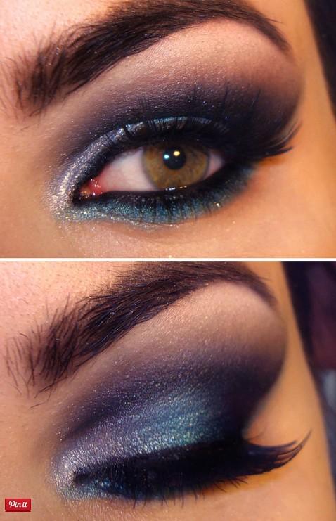Dark Purple Makeup